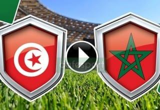 مباراة المغرب وتونس منقولة تلفزيا على هذه القنوات