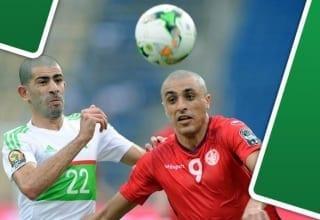 صور مباراة تونس والجزائر