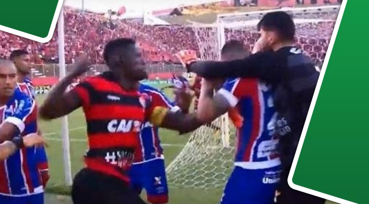 """بالفيديو 9 حالات طرد في مباراة """"كلاسيكو السلام"""" بالبرازيل"""