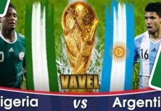 بث مباشر لمباراة الأرجنتين ونيجيريا