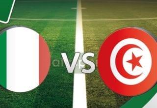 بث مباشر لمباراة إيطاليا - تونس