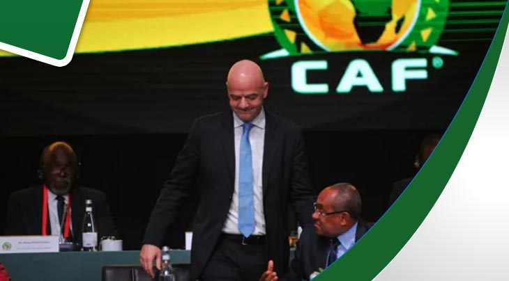 رئيس الفيفا في رادس لمتابعة النهائي بين الترجي والأهلي