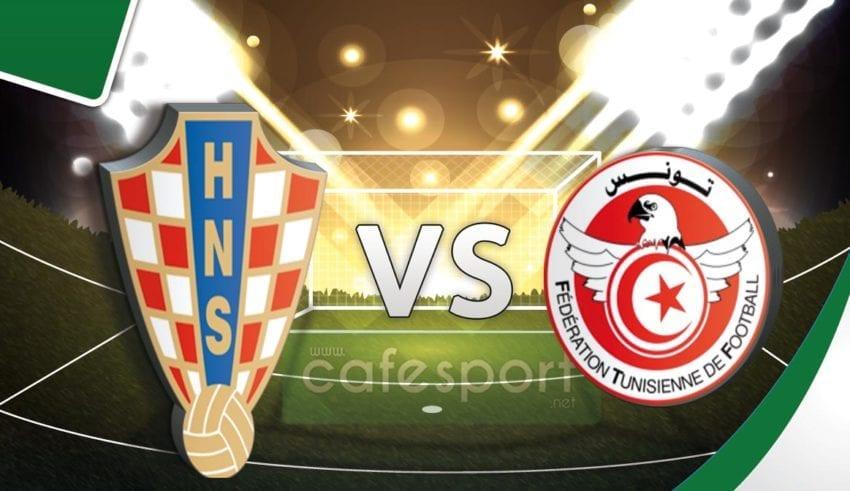 بث مباشر لمباراة تونس كرواتيا