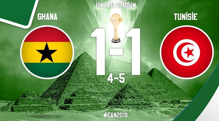 ملخص مباراة تونس وغانا