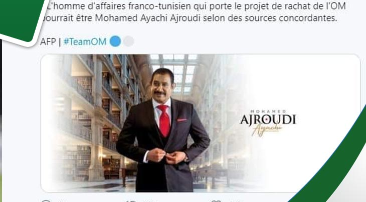 """بعد """"البوز التونسي"""" : رئيس أولمبيك مرسيليا يخرج عن صمته"""
